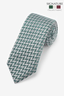 ربطة عنق أشكال هندسية صنعت في إيطاليا Signature