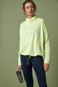 Cowl Neck Long Sleeve T-Shirt