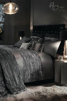 Kylie Zander Crinkled Velvet Panel Duvet Cover