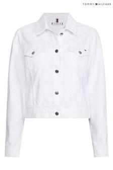ז'קט ג'ינס של Tommy Hilfiger דגם Vienna בצבע לבן