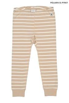 Polarn O. Pyret Natural GOTS Organic Stripe Trousers