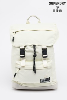 Superdry White Sportcode Top Loader Backpack
