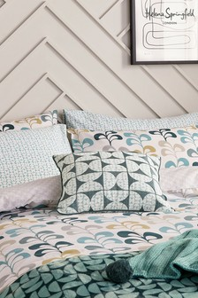 Set of 2 Helena Springfield Teal Liv Tolka Housewife Pillowcases