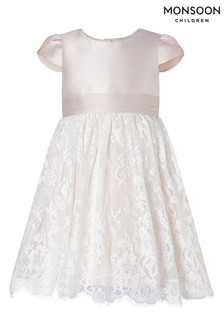 Monsoon粉色嬰兒喱士伴娘連身裙