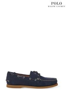 Polo Ralph Lauren Navy Leather Merton Boat Shoes