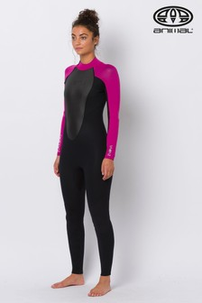 Animal Black Womens Back Zip Nova 3.2 Wetsuit