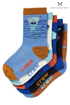 Crew Clothing Company Blue Bamboo Socks 5 Pack