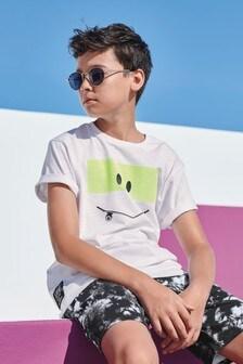 Tričko s krátkym rukávom s motívom skejtbordu (3 – 16 rok.)