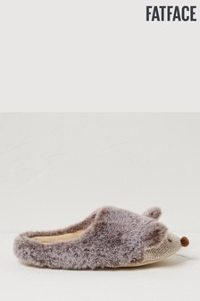 FatFace Natural Holly Hedgehog Slippers