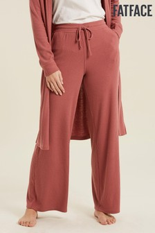 FatFace Pink Rib Wide Leg Pants