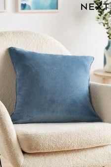 Airforce Blue Soft Velour Rectangle Cushion