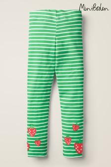 Boden Green Fun Embroidered Leggings