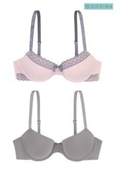 Dorina Pink Grey Bras 2 Pack