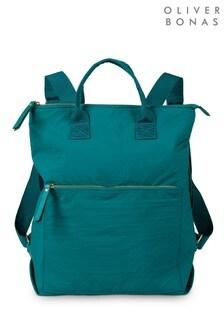 תיק גב מלבנישלOliver Bonas Baden בצבע ירוק טורקיז