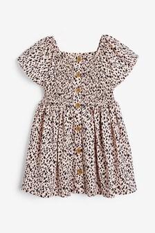 Riasené šaty na gombíky (3 mes. – 7 rok.)