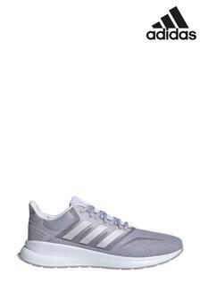 Серые кроссовки для бега adidas Falcon