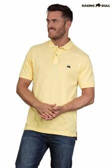 Raging Bull Yellow Signature Poloshirt