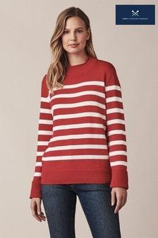 סוודר אדום שלCrewClothing דגםTwickenham