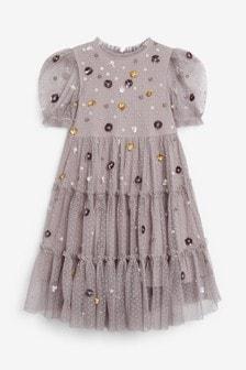 Платье с пайетками (3-16 лет)