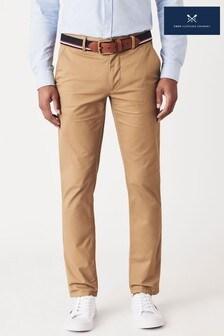 Crew Clothing Company Tan Straight Chinos