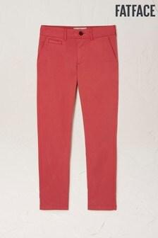 FatFace Red Devon Ankle Grazer Chino Trousers