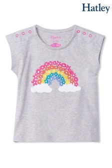 تي شيرت Magical Rainbow Baby رمادي من Hatley