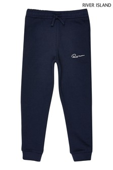Pantalon de jogging River Island River bleu marine