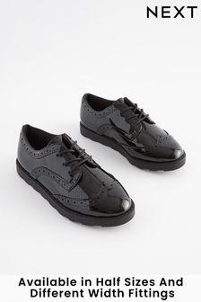 Šnurovacie topánky s vyrazeným vzorom (Staršie)