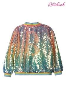 Billieblush Sequin Rainbow Bomber Jacket