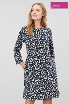 Joules Blue Layla Print A-Line Dress