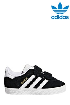 adidas Originals Black Velcro Gazelle Trainers