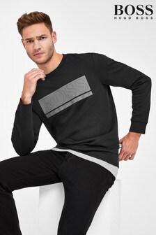 BOSS黑色Salbo標誌毛衣