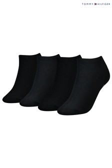 Tommy Hilfiger Black Trainer Socks 4 Pack