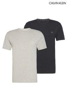מארז שתי חולצות טי של Calvin Klein, בצבע אפור