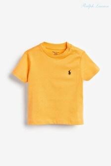 Оранжевая футболка с логотипом Ralph Lauren