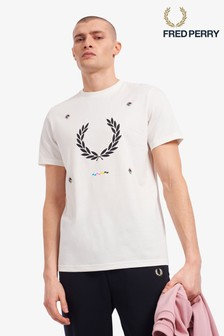 Fred Perry Print Registration T-Shirt