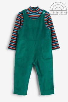 Little Bird Cord Dungaree and Top Set