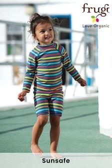 Haut de bain Frugi enfant protection UV 50+ arc-en-ciel rayé