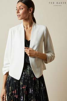 Ted Baker Cream Lilla Cropped Jacket