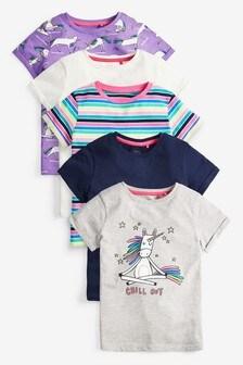 5 Pack Unicorn T-Shirts (3-16yrs)