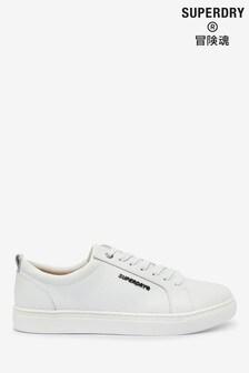 נעלי ספורט מעור של Superdry בלבן