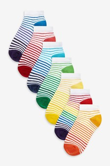 7 Pack Cotton Rich Trainer Socks (Younger)