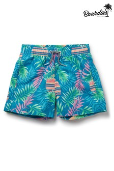 מכנסי שחייה קצרים באורך בינוני של Boardies דגם Boys Rising Palm