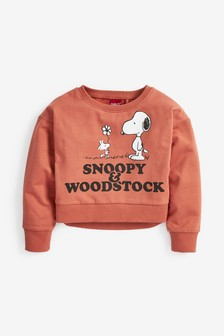 Kurzes Relaxed Fit-Sweatshirt mit Snoopy-Design (3-16yrs)