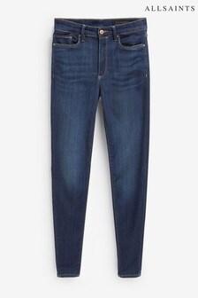 AllSaints Dark Blue Mid Rise Skinny Denim Jeans