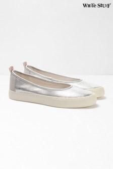נעלי בובה מקנבס מטאליים של White Stuff דגם Callie