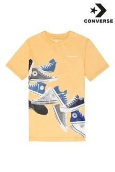 Camiseta de niño con estampado de zapatillas de deporte de Converse