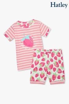 Hatley Delicious Berries Kurzes Pyjama-Set aus Bio-Baumwolle, Weiß