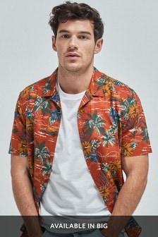 Chemise à manches courtes avec imprimé hawaïen