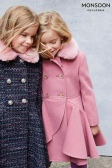 Monszun Rózsaszín Örvény fodros kabát